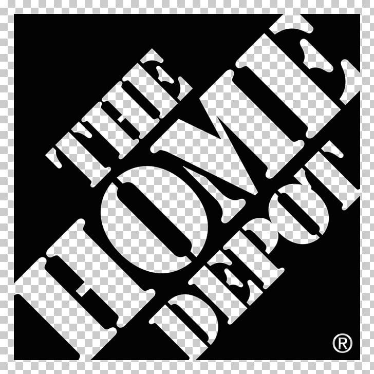 The Home Depot Logo Font, HomeDepot Black Logo PNG clipart.
