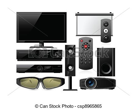 Home entertainment system Vector Clipart Illustrations. 279 Home.