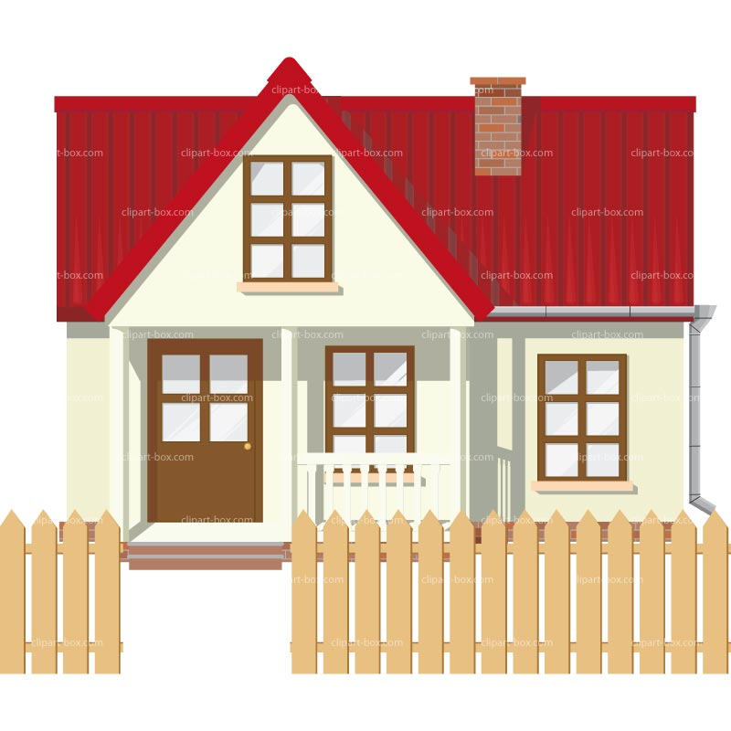 CLIPART HOUSE FRONT VIEW.