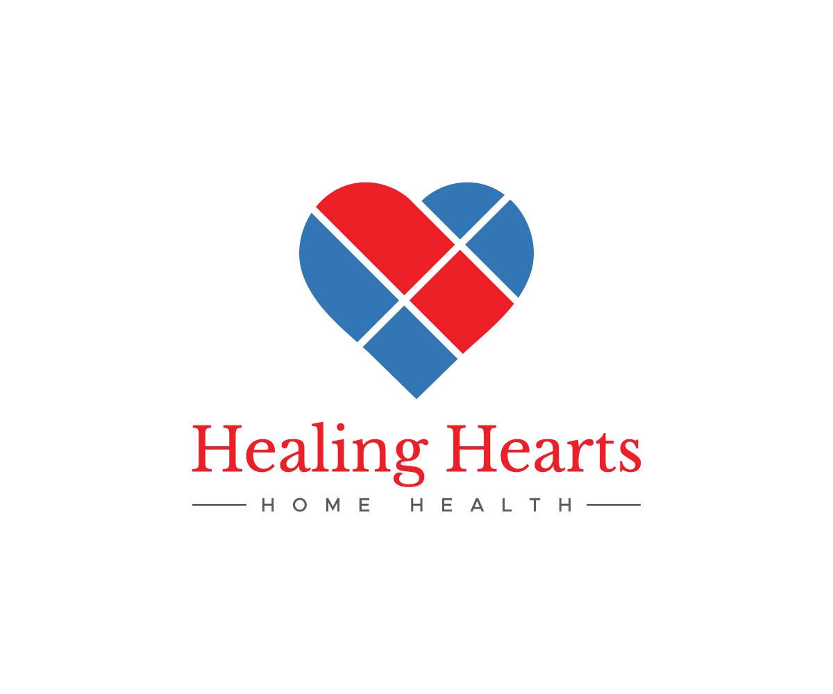 Modern, Bold, Home Health Care Logo Design for Healing.