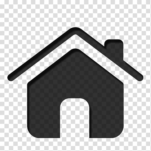 Computer Icons Home , Black Home Icon transparent background.