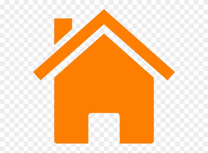Orange House Cliparts.