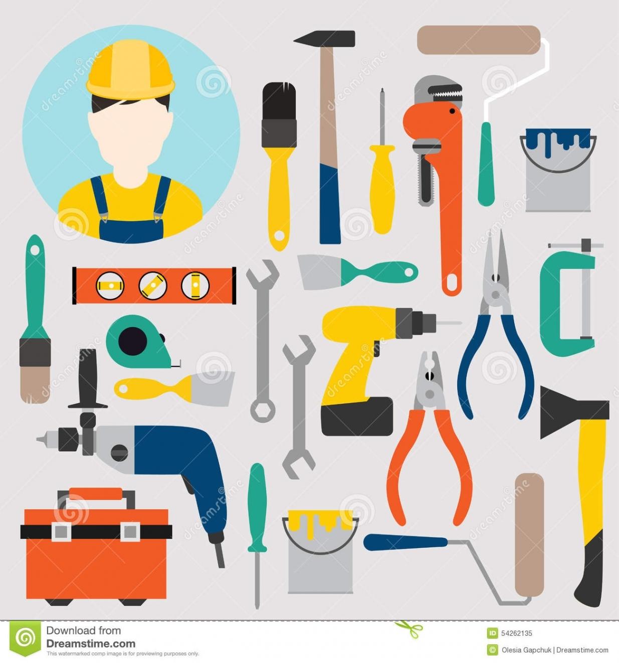 Home Improvement Tools Clipart.