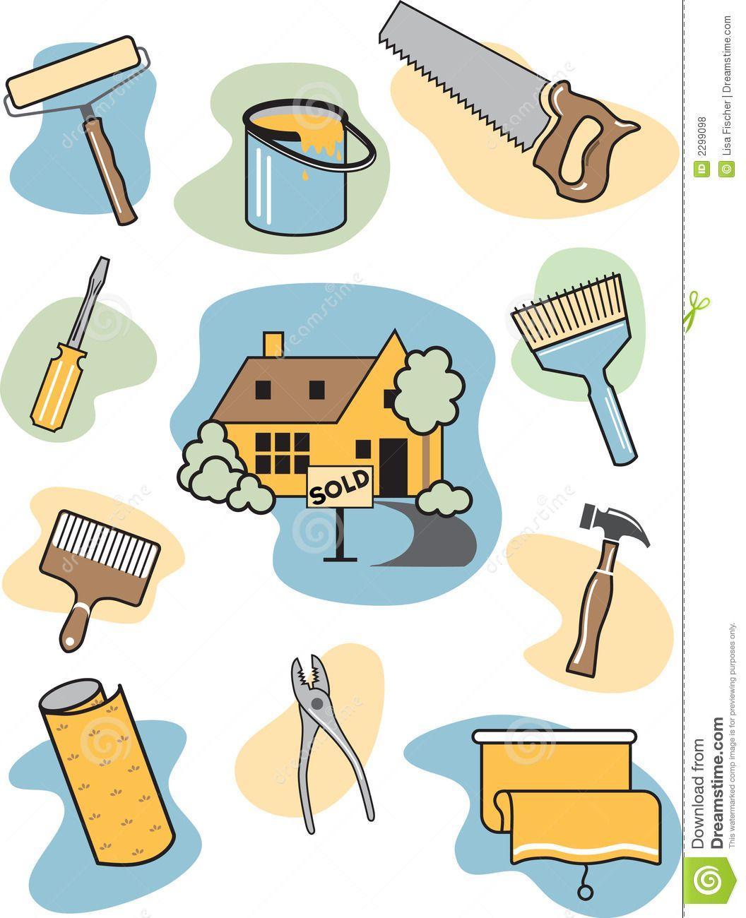 Home Improvement Clip Art Icon.
