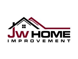 JW HOME IMPROVEMENTS logo design.