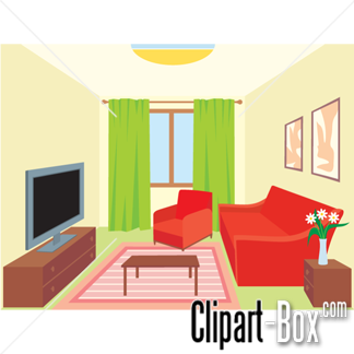 Home interior clipart clipground for A living room clipart