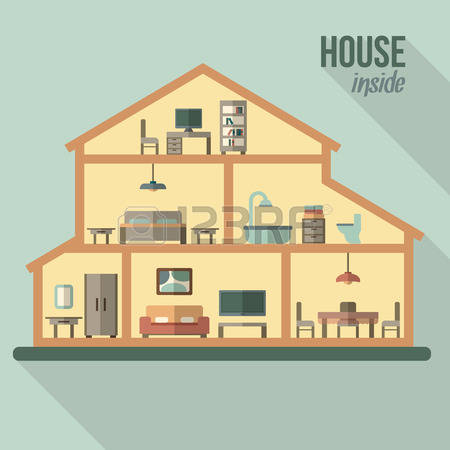 108,034 Home Interior Stock Vector Illustration And Royalty Free.