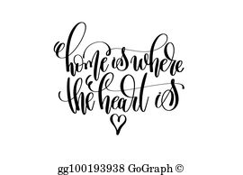 Home Is Where Your Heart Is Clip Art.