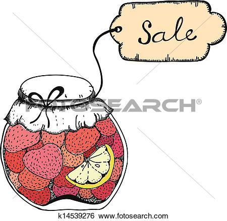 Clipart of strawberry jam k6084102.