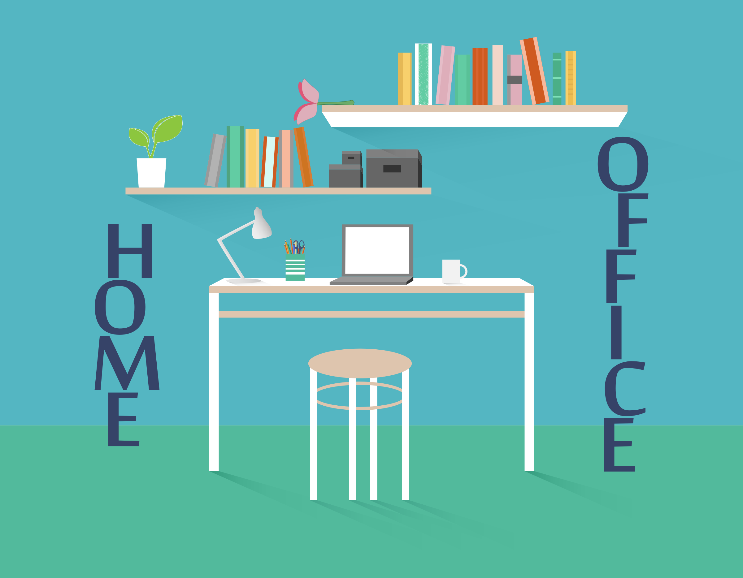 Home Office Clipart.