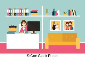Home office Vector Clipart Illustrations. 27,571 Home office clip.
