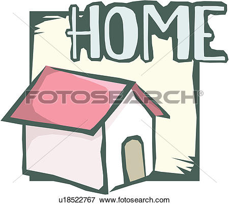 Clip Art of business, home, web, site, homepage, cyberspace, icon.