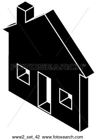 "Clip Art of Web Page ""Home"" Symbol/Icon www2_set_42."