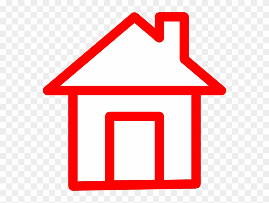 Home Clipart Red House.