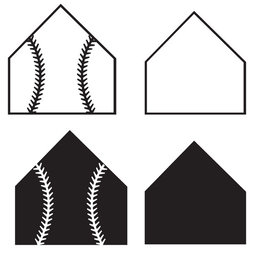 Download home plate outline clipart Baseball field Clip art.