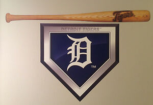 Details about Detroit Tigers FATHEAD Home Plate Logo 20\