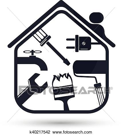 Home repairs flat Clipart.