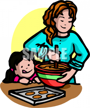 People baking clipart.