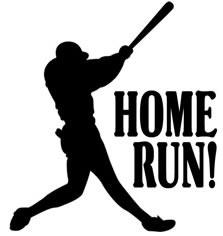Home Run Clipart.