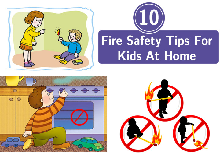 Safety At Home For Kids Clipart.