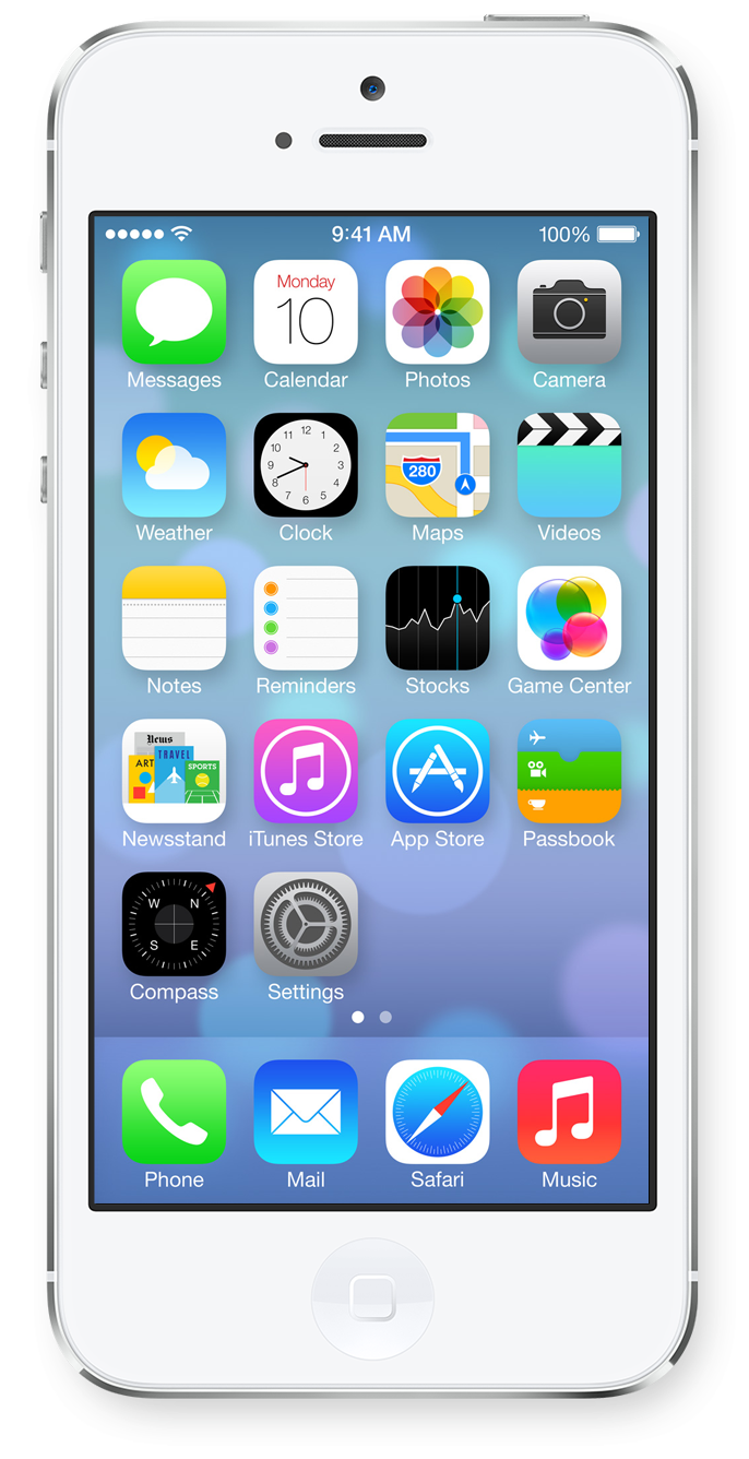 iPhone 5s iPhone X Home screen iOS.
