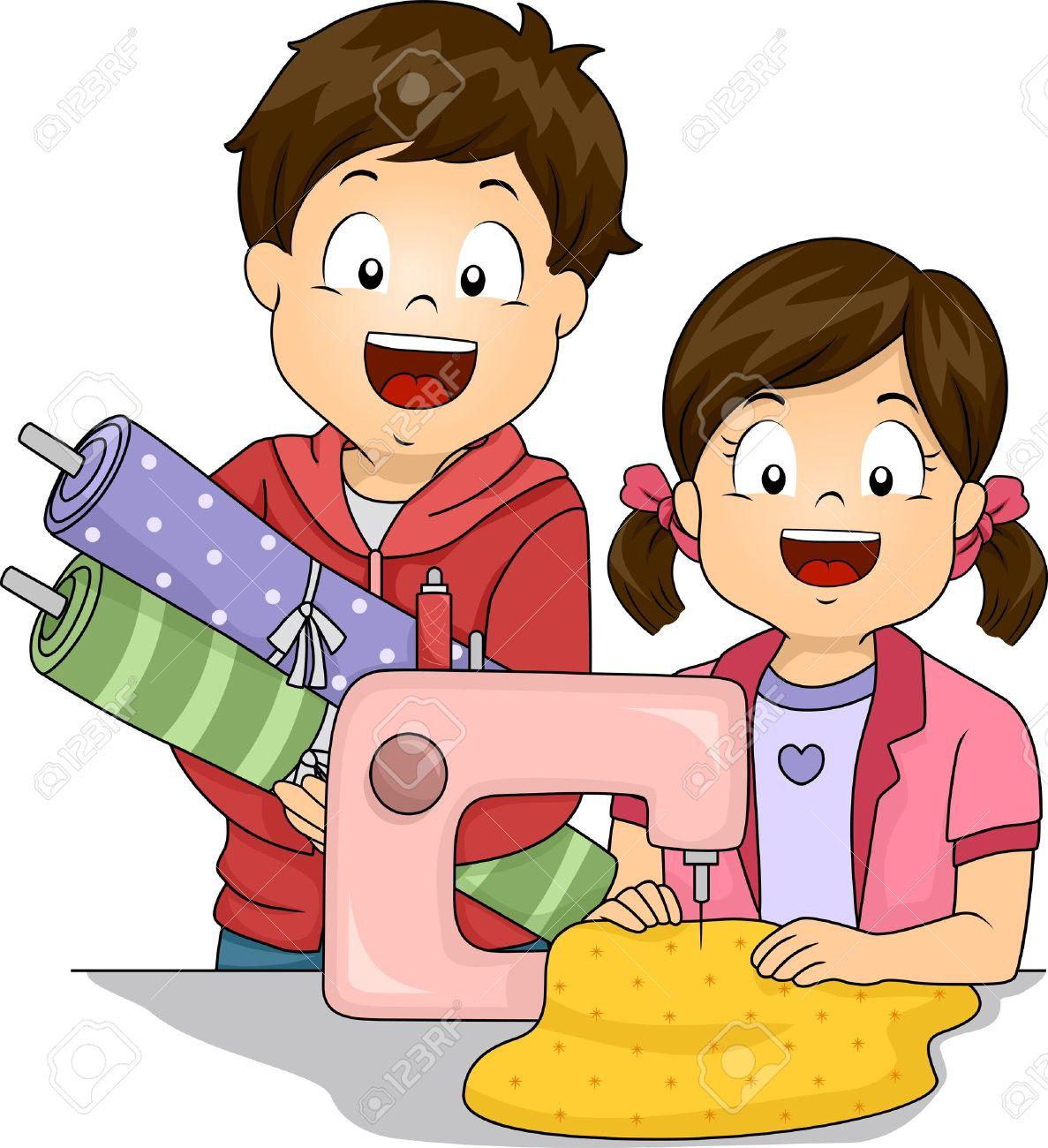 Home Economics Sewing Clipart.
