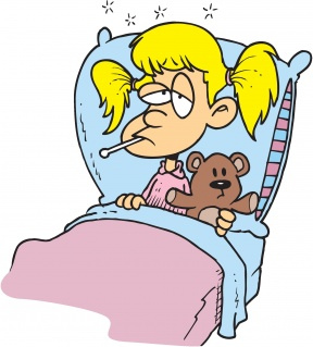 Home Sick Student Clipart.
