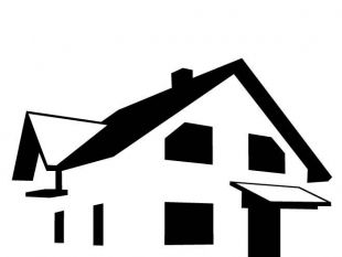 House Silhouette Clipart.