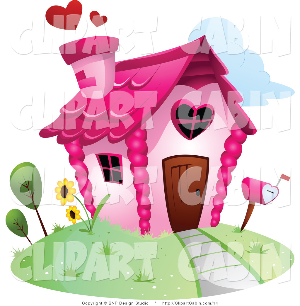 Clip Art of a Valentine House by BNP Design Studio.