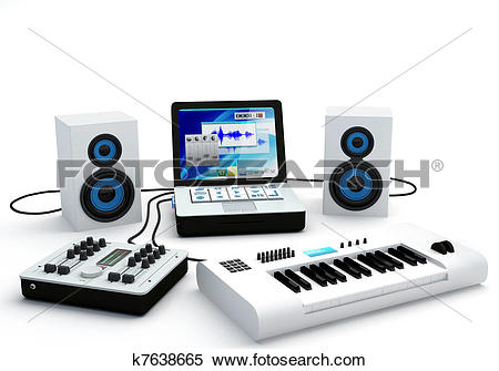 Stock Image of Home Recording Studio Equipment k7638665.