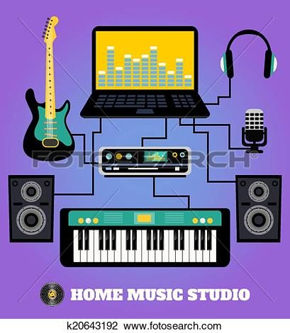 Clipart of Home music studio k20643192.