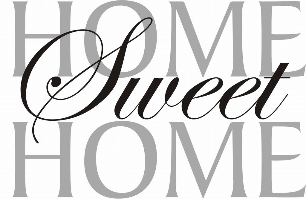 Home sweet home clipart black and white clipground for Scritte vintage