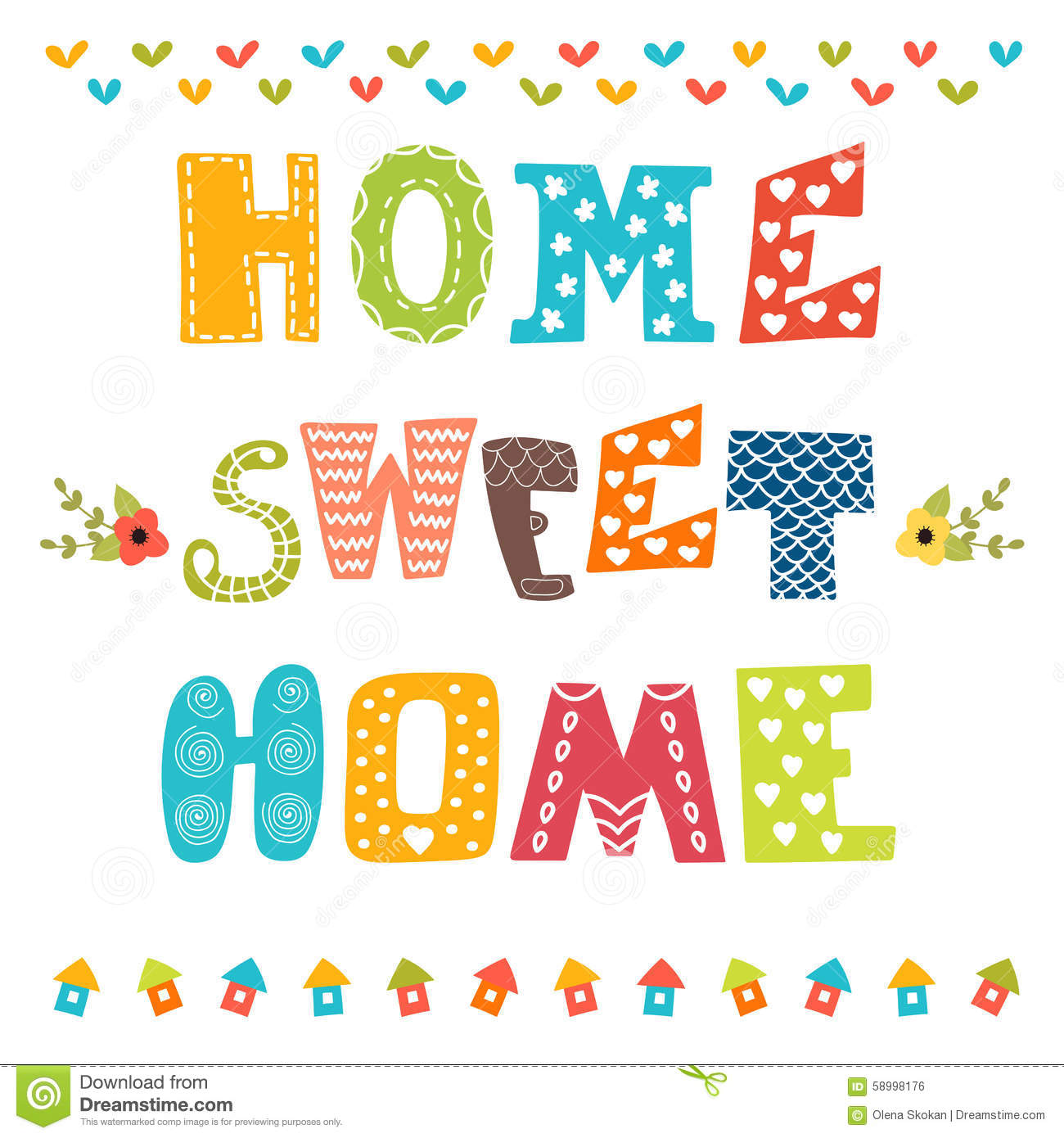 Home Sweet Home Stock Illustrations.