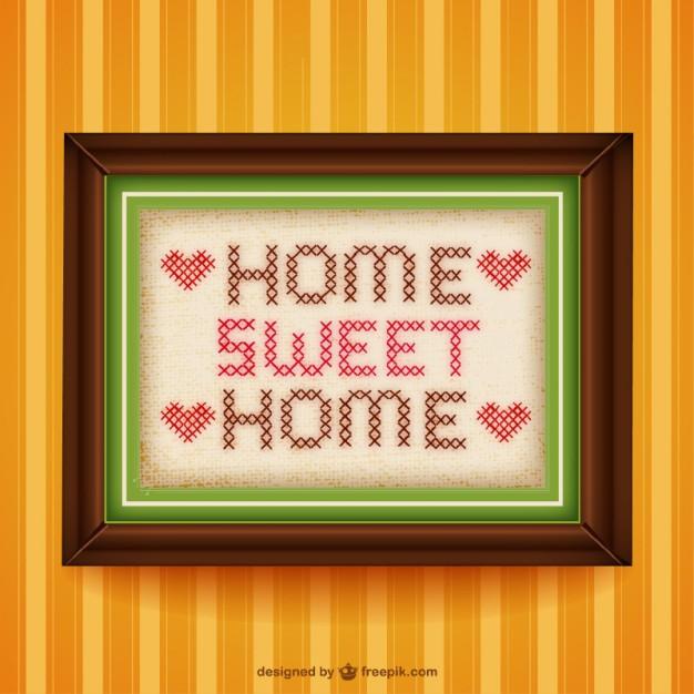 Home sweet home cross.