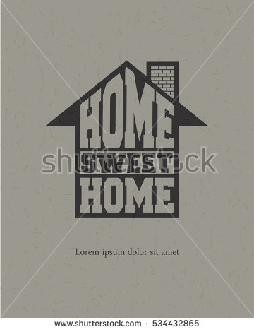 Home Sweet Home Vector Illustration Stock Vector 378327025.
