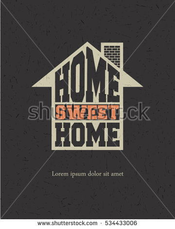Retro Letters Home Sweet Home Frame Stock Vector 367742294.