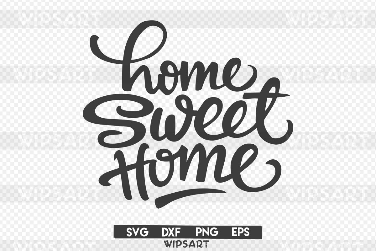 SALE! Home sweet home svg, home sweet home silhouette.