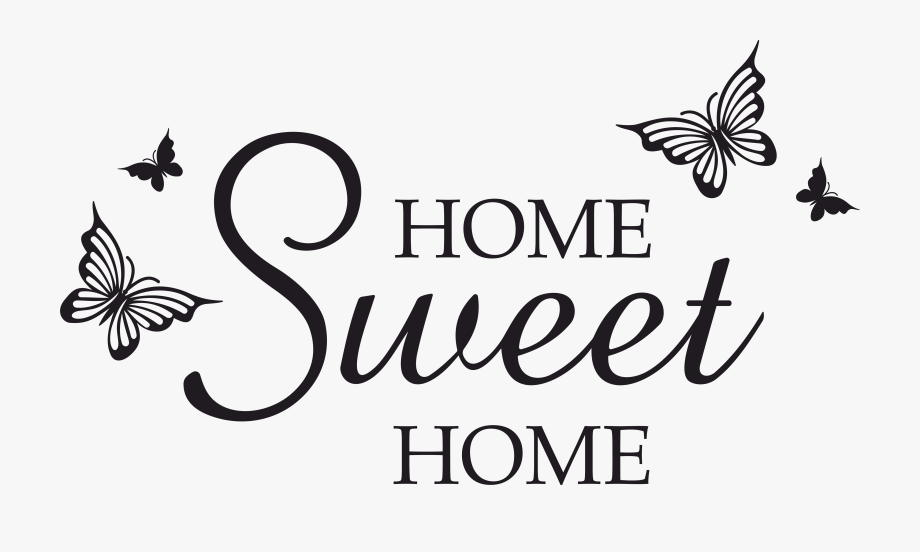 Home Sweet Home Butterfly Svg, Dxf, Eps, Png, By Vectordesign.