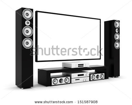Home Theater Stock Photos, Royalty.