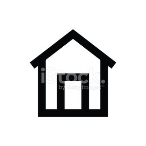 Home Vector Icon Clipart Image.