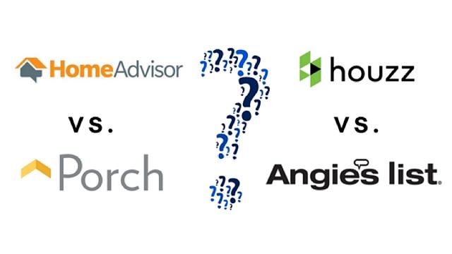 HomeAdvisor vs. Houzz vs. Porch vs. Angie's List.