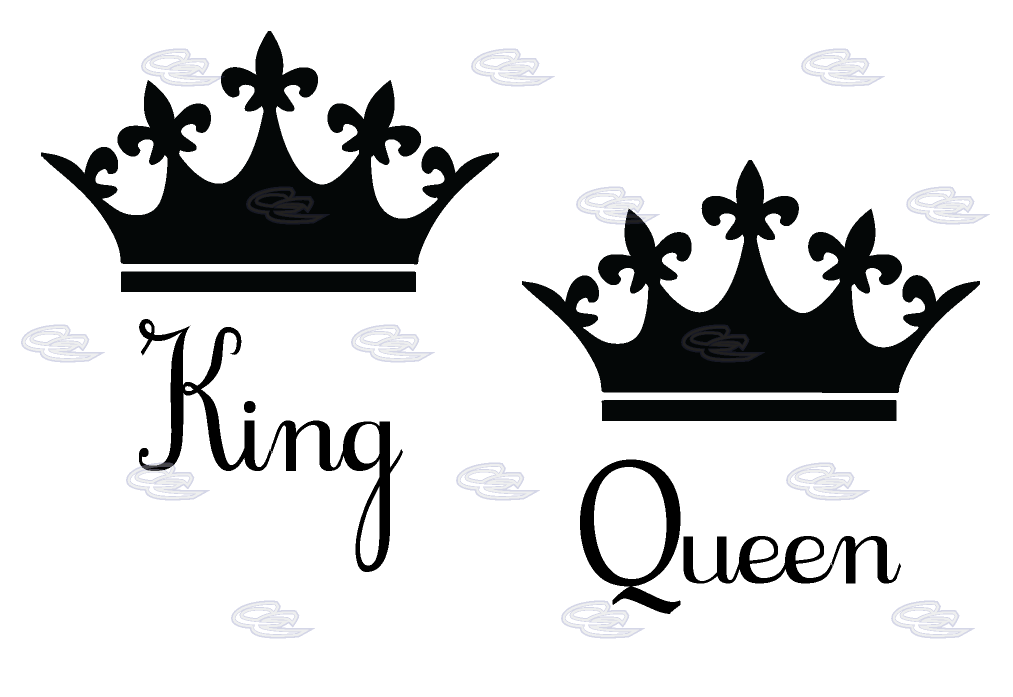 King And Queen Clipart Black And White.