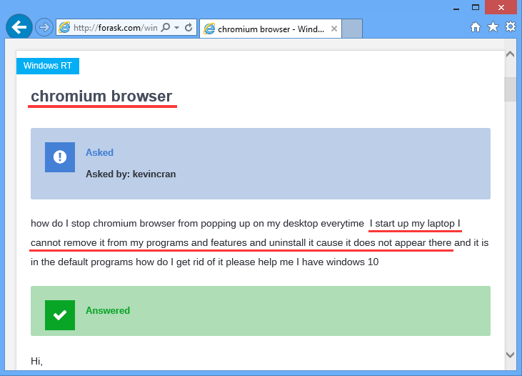 How to Remove Chromium Browser from PCs.