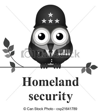 Vector of Homeland security.
