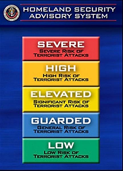 Homeland Security Advisory System.