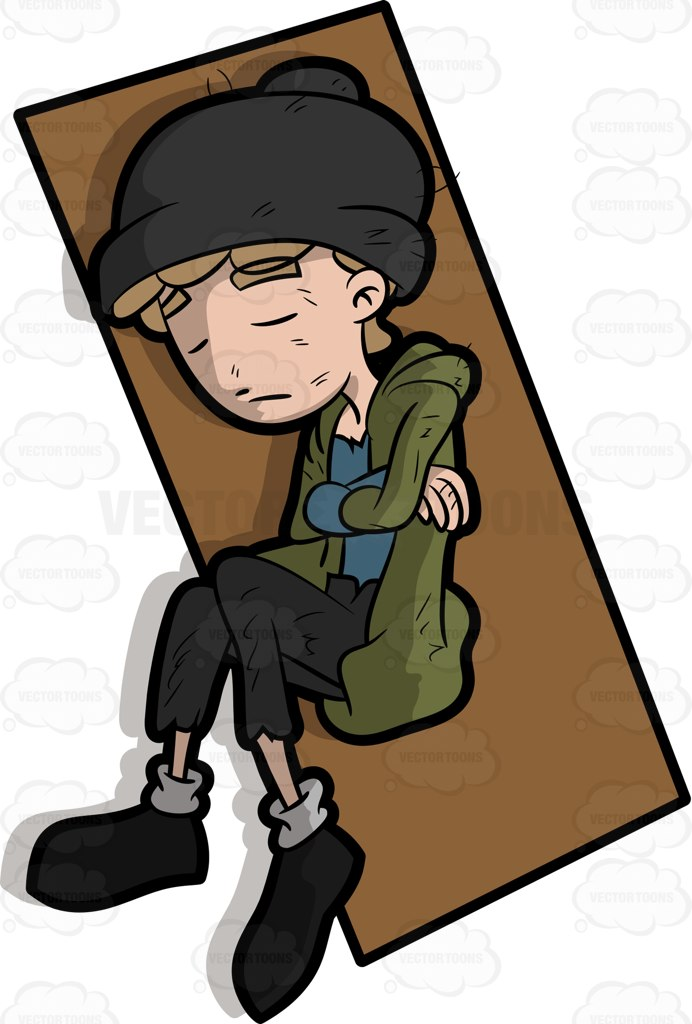 Homeless clipart homeless boy.