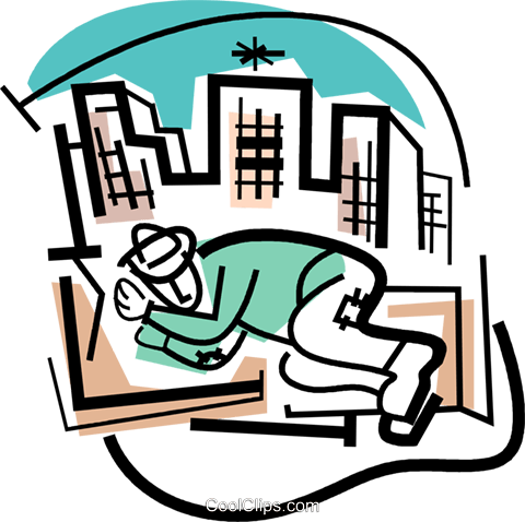 homeless Royalty Free Vector Clip Art illustration.