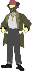 Clipart homeless person.