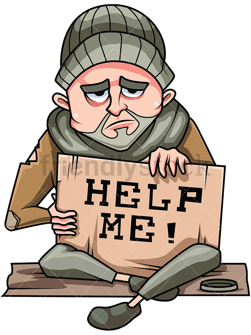 Mature Homeless Man In Need Of Help.
