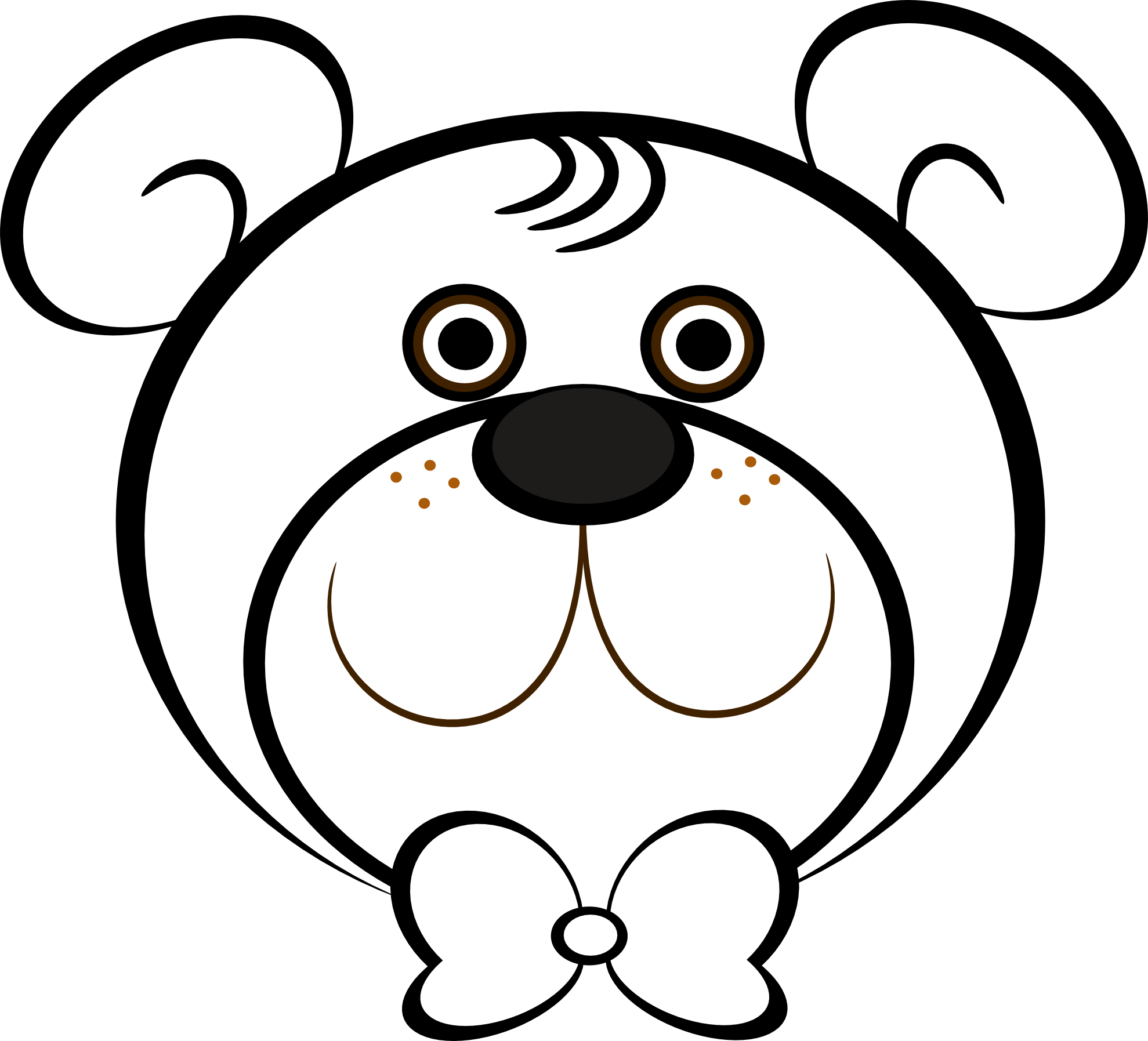 Download Teddy Bear Face Coloring.